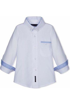 Lapin House Button-up open cuff shirt