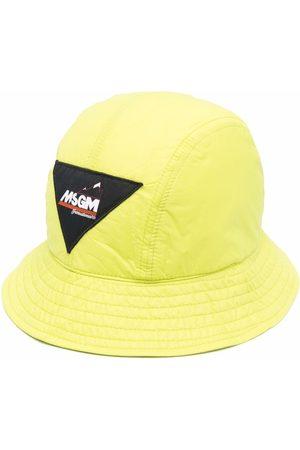 Msgm Men Hats - Logo-patch cotton bucket hat