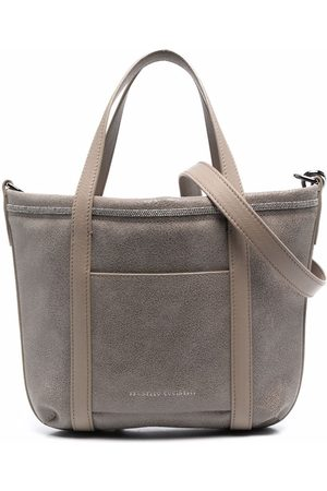 Brunello Cucinelli Girls Bags - Bead-embellished tote - Neutrals