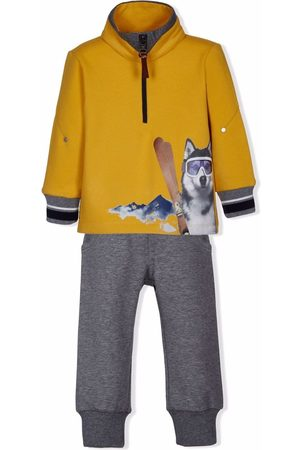 Lapin House Boys Tracksuits - Dog-print top tracksuit