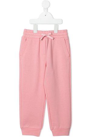 Dolce & Gabbana Girls Sweatpants - Logo plaque drawstring track pants