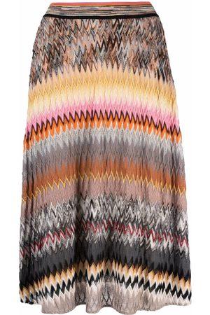 Missoni Women Printed Skirts - Zigzag-pattern midi skirt