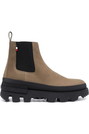 Moncler Chunky leather boots