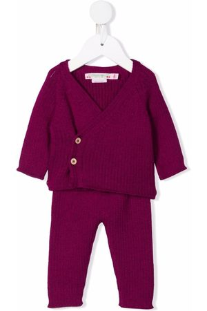 BONPOINT Baby Rompers - Button-up knitted romper