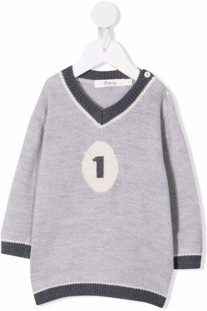 BONPOINT Intarsia-knit wool jumper - Grey