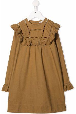 BONPOINT Girls Casual Dresses - Ruffled button-up dress