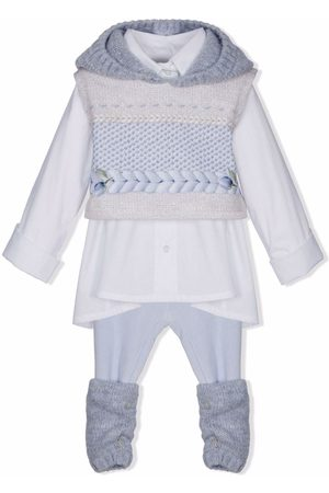 Lapin House Knit-panelled two-piece outfit - Grey