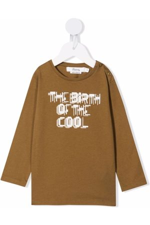 BONPOINT Long Sleeve - Slogan-print cotton long-sleeve top