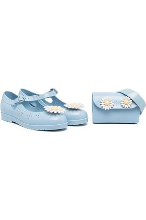 Mini Melissa Daisy-embellished ballerinas and pouch