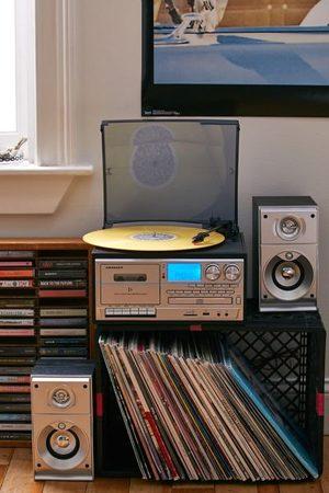 Crosley Eclipse Record Player Entertainment Center