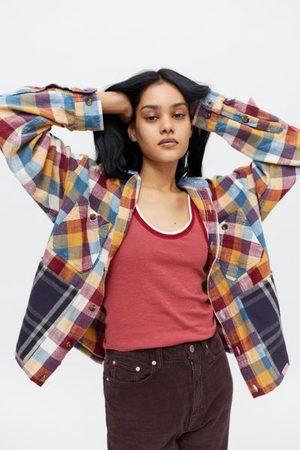 Urban Women Jackets - Recycled Heavyweight Flannel Shirt Jacket