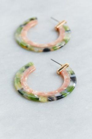 Urban Outfitters Tortoiseshell Two-Tone Hoop Earring