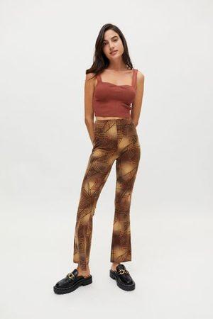 Urban Women Wide Leg Pants - Remnants Mod Print Flare Pant