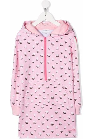 The Marc Jacobs Girls Printed Dresses - Dots Icing-print hooded dress