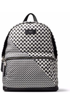 Jimmy Choo Wilmer houndstooth backpack
