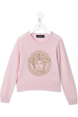 VERSACE Girls Hoodies - Embellished-Medusa jumper