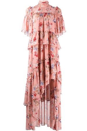 Cinq A Sept Women Printed Dresses - Floral-print ruffled dress