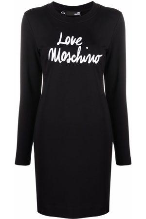Love Moschino Women Printed Dresses - Logo-print cotton dress