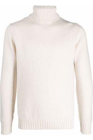 DELL'OGLIO Roll-neck cashmere jumper - Neutrals