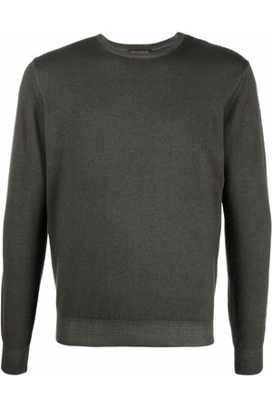 DELL'OGLIO Men Sweatshirts - Crew-neck rib-trimmed jumper