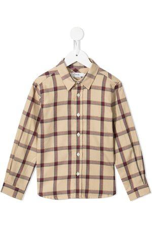 BONPOINT Boys Long sleeves - Checked long-sleeve shirt