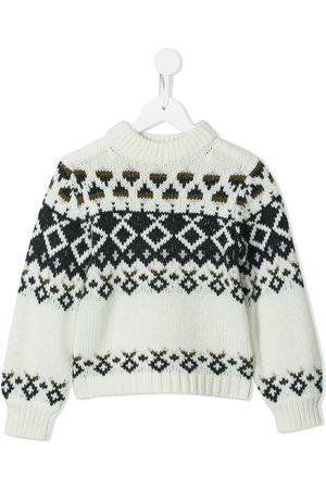 BONPOINT Girls Hoodies - Round neck knitted jumper