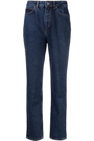 12 STOREEZ Women High Waisted - High-rise tapered jeans
