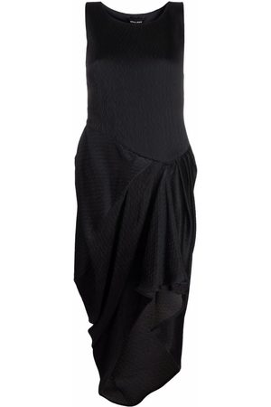 Armani Draped asymmetric hem dress