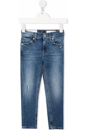 Dondup Logo-patch faded-effect jeans