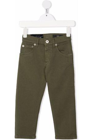 Dondup Boys Pants - Logo-patch denim trousers