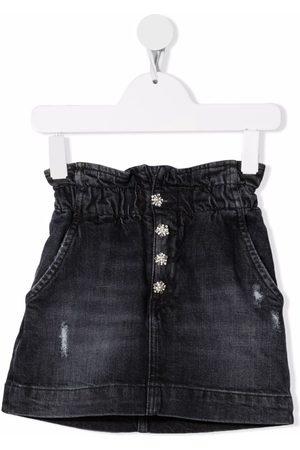 Dondup Distressed-effect denim skirt - Grey