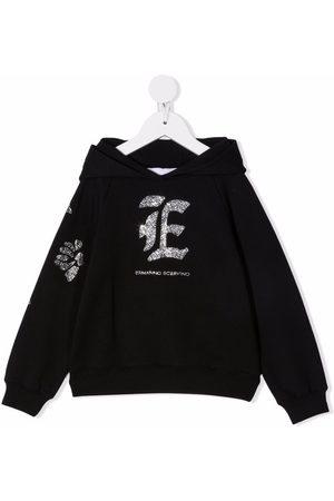 ERMANNO SCERVINO JUNIOR Rhinestone logo hoodie