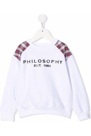 PHILOSOPHY DI LORENZO SERAFINI Logo-print checked sweatshirt