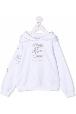 ERMANNO SCERVINO JUNIOR Girls Hoodies - Rhinestone logo hoodie