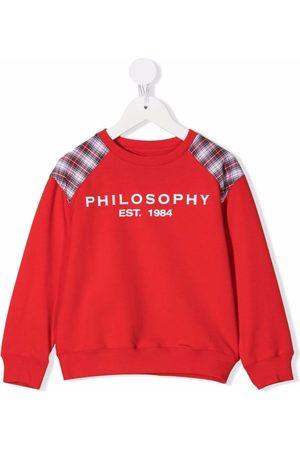 PHILOSOPHY DI LORENZO SERAFINI Girls Hoodies - Logo-print checked sweatshirt