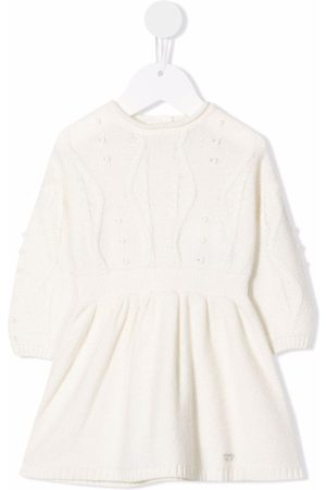 Emporio Armani Baby Knitted Dresses - Cable-knit longsleeved dress