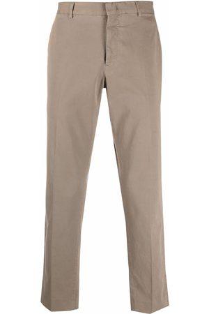 PT01 Men Stretch Pants - Straight stretch-cotton trousers - Neutrals