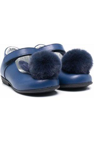 MONNALISA Girls Ballerinas - Pompom-detail ballerina shoes
