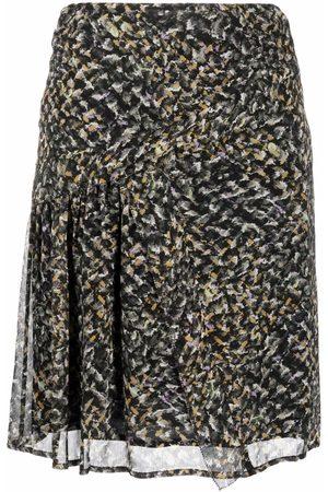 LALA BERLIN Women Printed Skirts - Spray print straight skirt