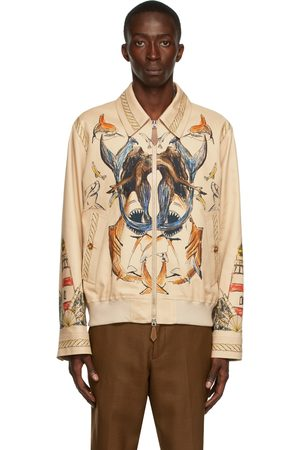 Burberry Beige Fawn Harrington Jacket