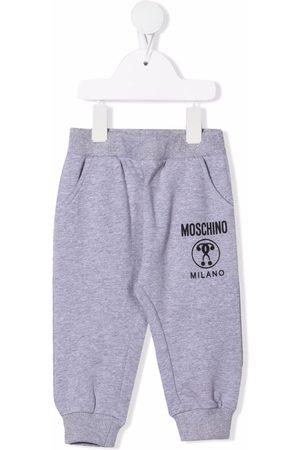 Moschino Logo-print leg trousers - Grey