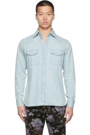 Tom Ford Men Denim - Blue Denim Leisure Shirt