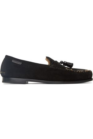 Tom Ford Men Loafers - Black Suede & Shearling Berwick Loafers