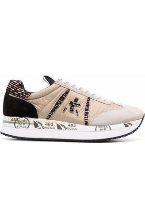 Premiata Women Sneakers - Conny panelled sneakers - Neutrals