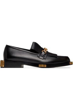 Balmain Black & Gold Tomi Loafers