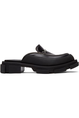 BOTH Black Gao Mule Loafers