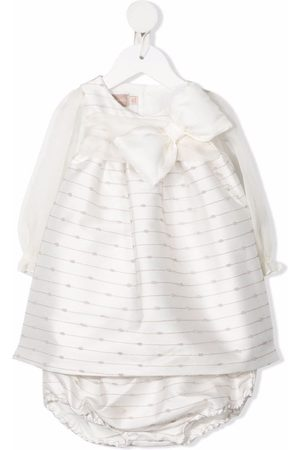 LA STUPENDERIA Abstract-print bow-detail dress