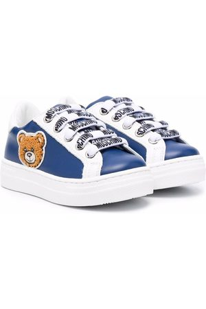 Moschino Teddy Bear-patch leather sneakers