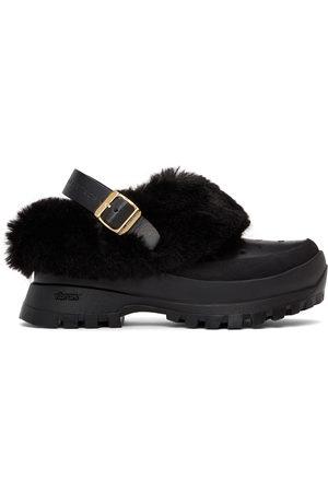 Stella McCartney Women Clogs - Black Fur Free Fur Trace Clogs