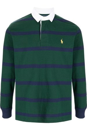 Polo Ralph Lauren Embroidered logo striped rugby shirt